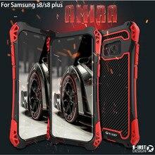 Новый R-Просто Чехол Для Galaxy S8 Водонепроницаемый Чехол Для Samsung Galaxy Plus S8 S8 + Алюминий Водонепроницаемый Противоударный углеродного волокна Случае