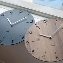 Creative Luminova Minimalist Wall Clock Simple Modern Fashion Bedroom Quiet Pastoral Quartz Watch Large Living Room Wall Clock