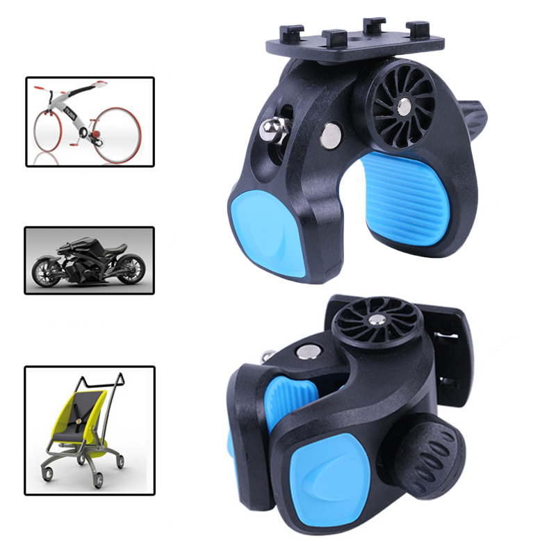 Support Unversal Holder Baby Stroller Motorcycle 8cm Mobile Handlebar Clamp