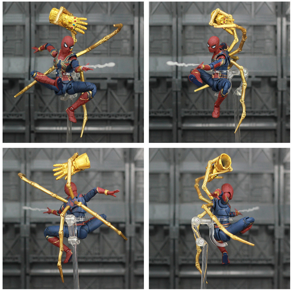 """Image 3 - Marvel Avengers Iron Spider Man 6"""" Movie Action Figure Tom Holland Legends Spiderman Far From Home Endgame Toys Doll KO's SHF-in Action & Toy Figures from Toys & Hobbies"""