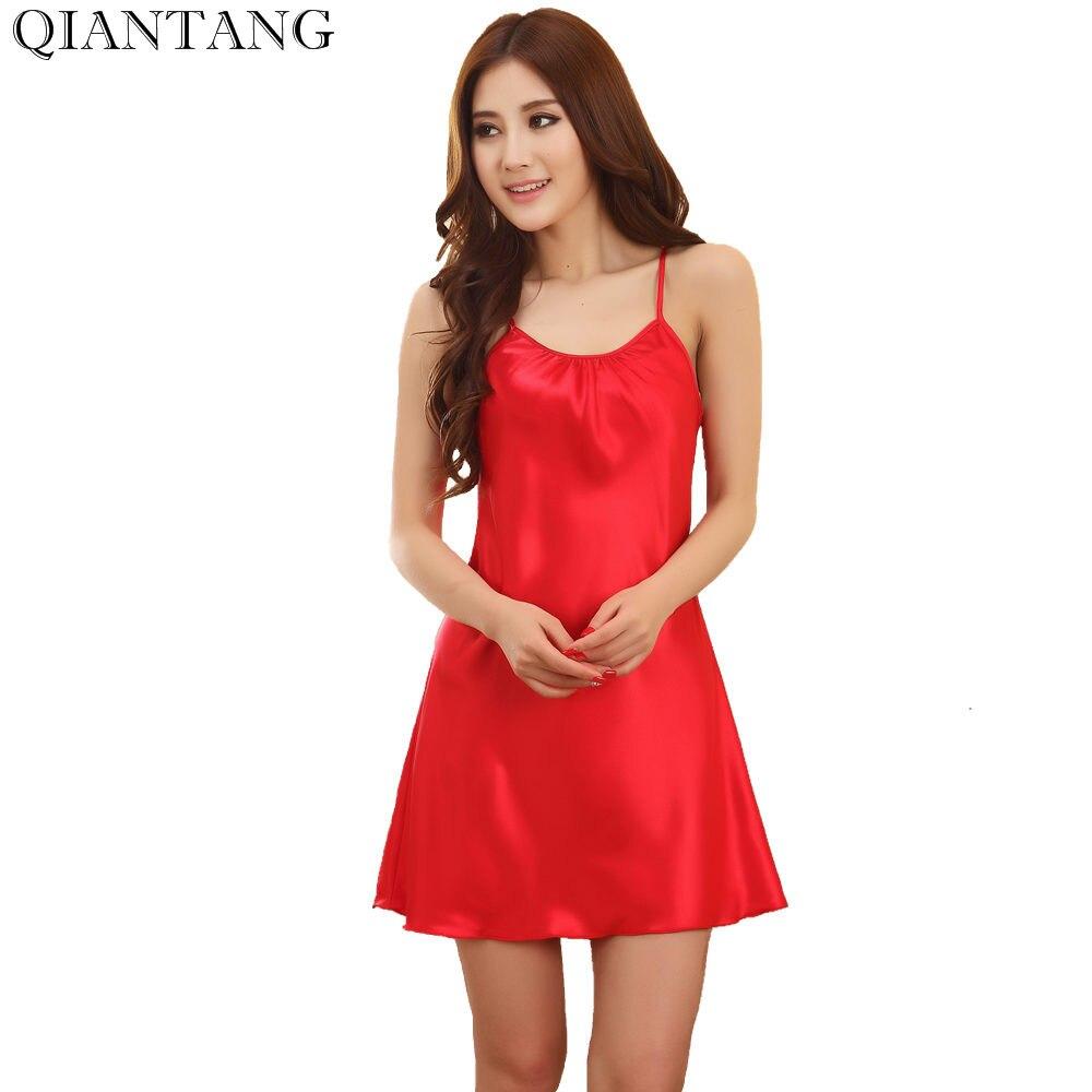 Selbstlos Mode Rot Neue Sommer Frauen Nacht Robe Bad Kleid Faux Seide Nachthemd Nachtwäsche Nachthemd Pyjamas Größe M L Xl Xxl Y8648 Verschiedene Stile Unterwäsche & Schlafanzug