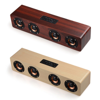 F6 Pro Houten Speaker Bluetooth Wireless PC USB AUX TF FM Radio 4 Luidsprekers Stereo Bass Klankkast voor Computer mp3 Android IOS