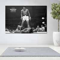 1 Pcs Muhammad Ali Fighting Canvas Painting Wall Art Print Poster For Living Room Black And White Art Modern Cuadros No Frame