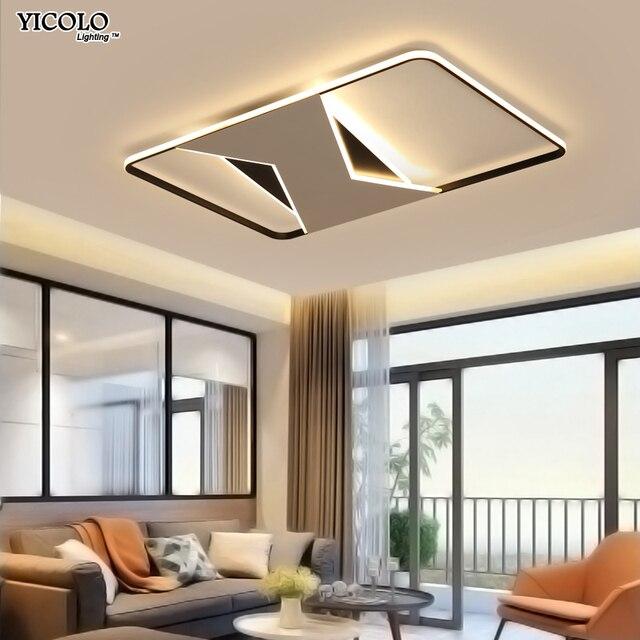 New design white black frame Modern led Chandelier for living room ...