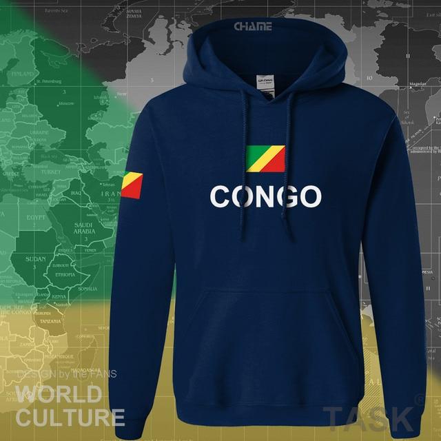 Congo Republic hoodie men sweatshirt sweat new hip hop streetwear tracksuit nation footballer sporting country COG Congolese 1
