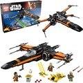 736 шт. Звездные войны Poe X-Wing Fighter 75102 05004 Строительные Блоки Модель Comp W/ЛЕГО Развивающие игрушки Для Детей Подарки