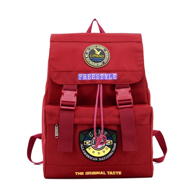 Squirrel Fashion Vogue Casual Canvas Unisex Letter Backpacks Rucksack Pattern Preppy Style Travel Girls School Bag rechargeable flashlight led torch xm l t6 xm l2 waterproof 3800 lumen 5 mode lanterna camping flashlight lamp batteries 18650