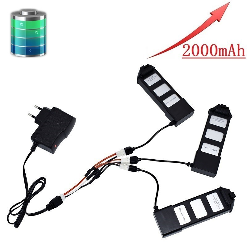 Quick Charge 7.4V 2000mAH LiPo Battery And Charger For MJX R/C Bugs 5W B5W X5 RC Quadcopter Helicopter Spare Parts Drone Battery