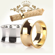 2pcs hIgh Quality napkin ring buckle napkin holder for hotel dining table and wedding party decoration Tools Kitchen Accessories(China)