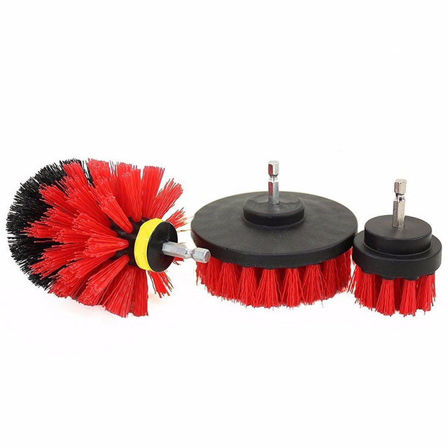 3 pcs Power Scrubber Brush Set for Bathroom | Drill Scrubber Brush for Cleaning Cordless Drill Attachment Kit Power Scrub Brush 4