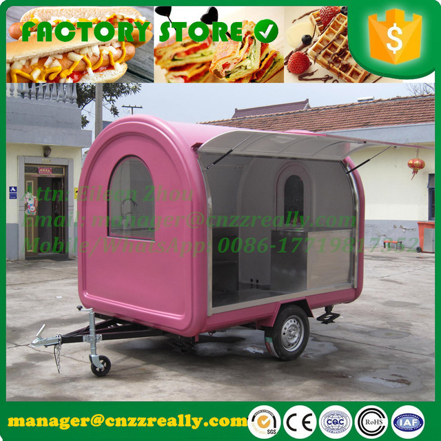 2m Width Type Street Mobile Food Cart Coffee Vending Trailer For Sale Ice Cream