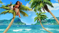 Decorative Painting Moana Fabric Poster 53cm 94cm Picture Modular To Painting Art