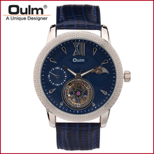 Oulm 3M Waterproof Men Mechanical Watch Genuine Leather Band 3682