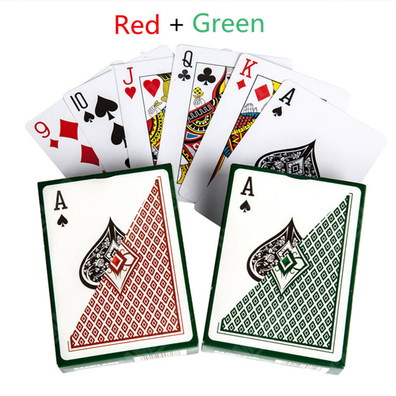 Poker Cards CASINO ROYALE Frosted Plastic Texas Poker Board Games Hot-selling 2PC(Blue+Orange) Wholesale Baralho Cartas