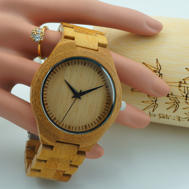 2017 BOBO BIRD Women Watch Men Handmade Quartz Bamboo Watches Bamboo Band Wristwatch with Paper Box relogio feminino 2017 luxury watch bobo bird wood watches for men wooden band wristwatch with bamboo box relogio masculino b n07