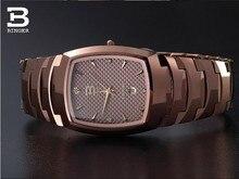 New 2017 Luxury Brand Switzerland Binger tungsten steel men's watch quartz watch beer barrel full steel wristwatches BG-0394-7