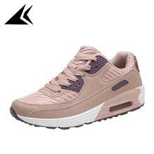 Classic Outdoor Lawn Damping Cushion Women Running Shoe Light Stability Color Matching Travel Walking Sport Shoe