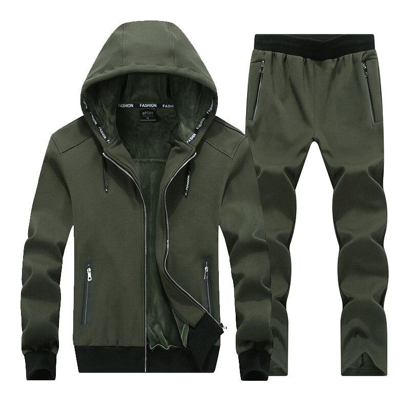High Quality Men Casual Hoodies Sports Suits Fashion Men's Sportswear Two Piece Hoodie+pants Sets Big Size 7XL 8XL 9XL