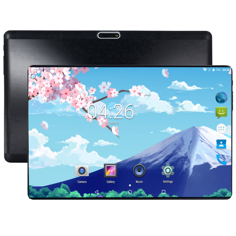 2019 Hot 10 inch Tablet PC 4+64 GB Android 8.0 OS Octa Cores Dual SIM Cards 1280*800 IPS 2.5D Glass Screen + Protector Gifts