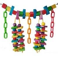 1pcs Colorful Parrot Toys Macaw Cage Chew Bridge Bird Toys For Parrots Pet Bird Swing Toy