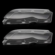 New 2 Pcs Transparent Housing Headlight Lens Shell Cover Lamp Assembly For BMW E46 2002-2006 4 Doors цена в Москве и Питере