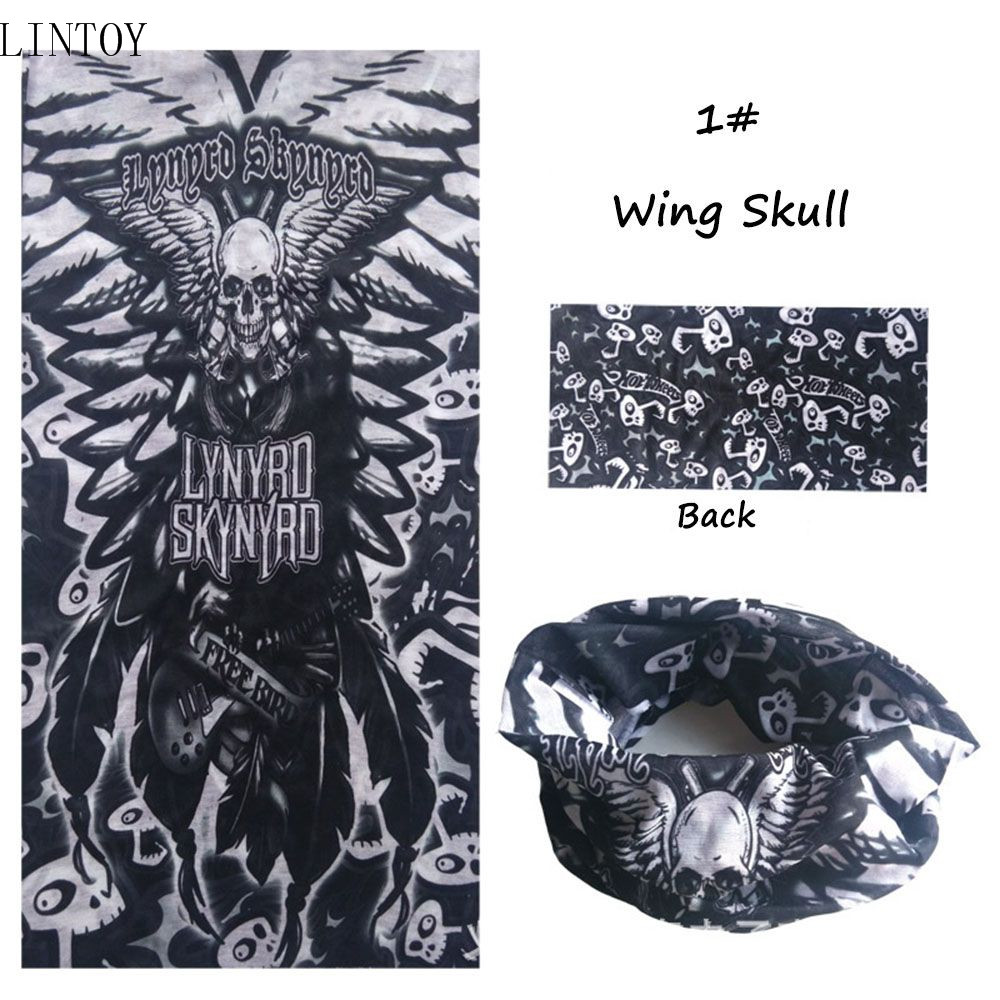 Fashion Women Men Head Scarf Awful Skull Sea Fish Life Face Mask Mouth Mask Biker Warmer Magic Cap Turban  Veil Kerchief airsoft adults cs field game skeleton warrior skull paintball mask