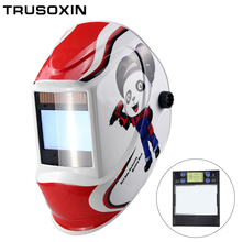 Smart Large Window 4 Arc Sensor DIN5-DIN13 Solar Auto Darkening TIG MIG MMA Welding Mask/Helmet/Welder Cap/Lens/Face Mask