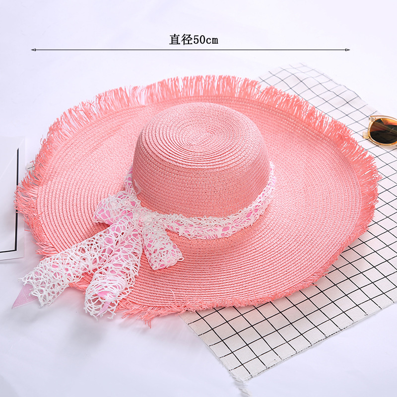 c3b7bb362b758d 2018 New Wide Brim Floppy Fold Sun Hat Summer Hats For Women Out Door Sun  Protection Straw Hat Women Beach Hat-in Women's Sun Hats from Apparel  Accessories ...