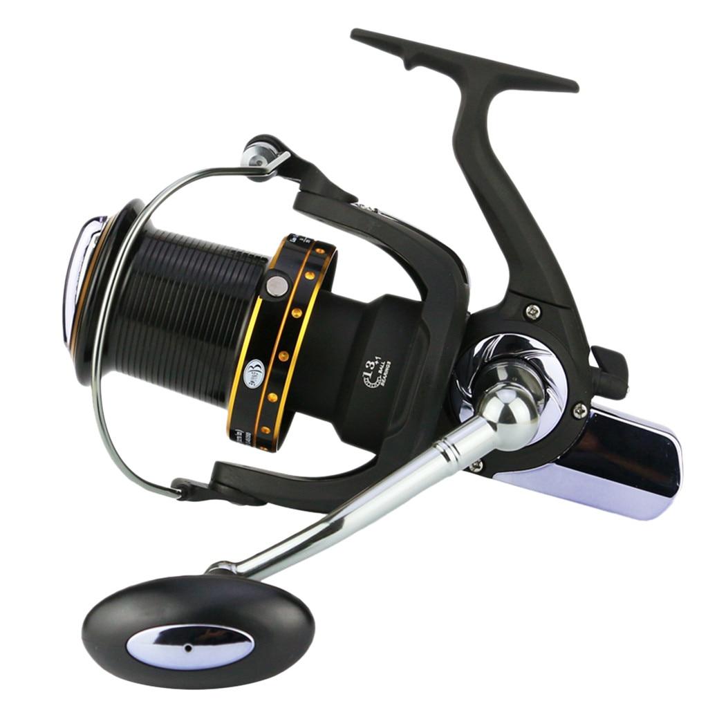 Jcxagr Spinning Reel Fishing 14BB L'océan Lointain Roue Faux Appât Fly Reel Fishing Gear Ratio 5.2: 1 gauche Droite Échange 010