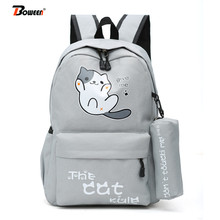 Cute Cartoon cat school bags teenager girls backpack for wom