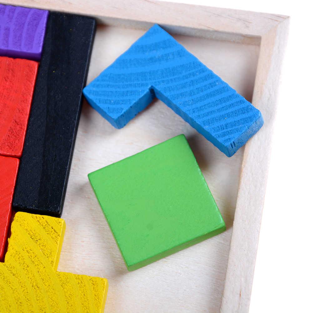 الأطفال تانجرام الدماغ دعابة الألغاز ألعاب خشبية الخشب تتريس لعبة أطفال لعبة بانوراما مجلس لعبة تعليمية