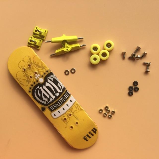 Murah Hanya 118 USD Profesional Maple Fingerboard Kayu Jari Skateboard Paduan Stent Bantalan Roda