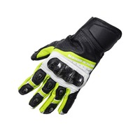 2017 ROCK BIKER Chevron Motorcycle Gloves Racing Gloves Genuine Leather Motorbike Gloves green MotoGP Road Racing Team Gloves