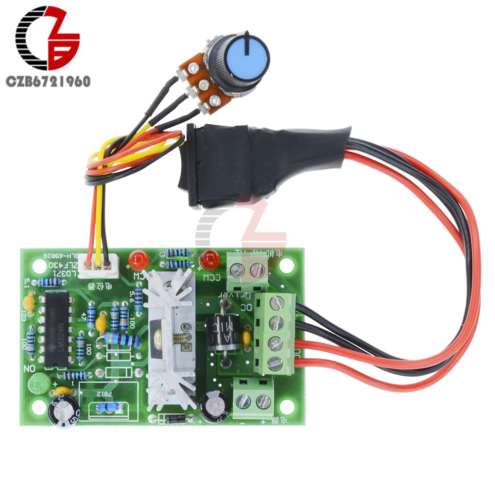 6-30V DC Motor Speed Controller Reversible PWM Control Forward / Reverse switch wireless remote control dc motor speed controller 220v dc motor speed control motor speed switch power surge plates
