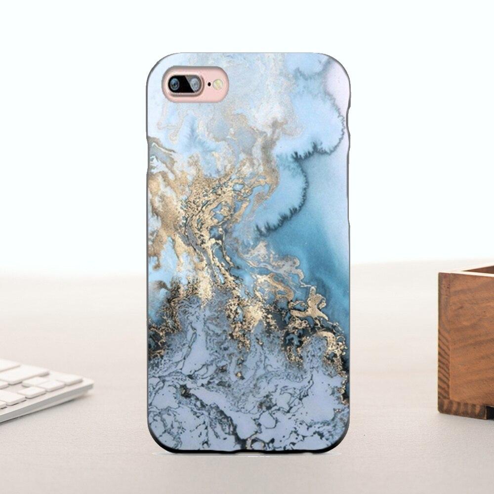 Silicone case oro azul gris mármol diseño lindo accesorios para teléfonos 6 6 pl