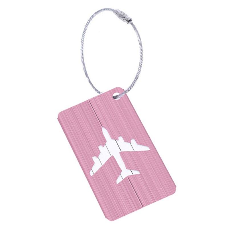 HEBA Hot Sale New Aluminium Travel Luggage Baggage Tag Suitcase Identity Address Name Labels