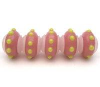 JGJWG167 5X Charms Murano Glaskralen Fit Europese Charms Armband charms diy sieraden Lampwork GlassBeads Latex core
