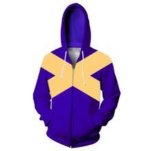 Adult Kids X-Men Dark Phoenix Superhero Cosplay Sweatshirt Hoodie Carol Danvers Jacket Coat