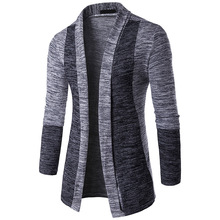 2017 Hot Sale Brand-Clothing Spring Cardigan Male Fashion Quality Cotton Sweater Men Casual Gray Redwine Mens Sweaters