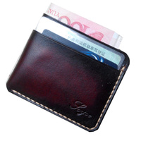 Genuine Leather Card Id Holders Handmade Vintage Wallet For Credit Cards Luxury Bank Card Protector Cardholder