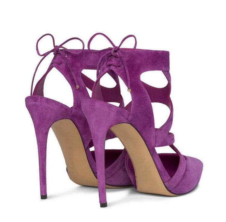 High Quality 2015 Designer Sexy Plus Size Women Pumps Purple Lace ...