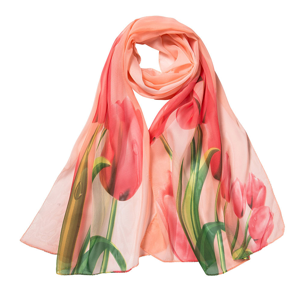 2019 Elegent Women Large Square Silk   Scarf   Women Flower Printing Long Soft   Wrap     Scarf   Shawl Purple Polyester Silk   Scarf   Shawl