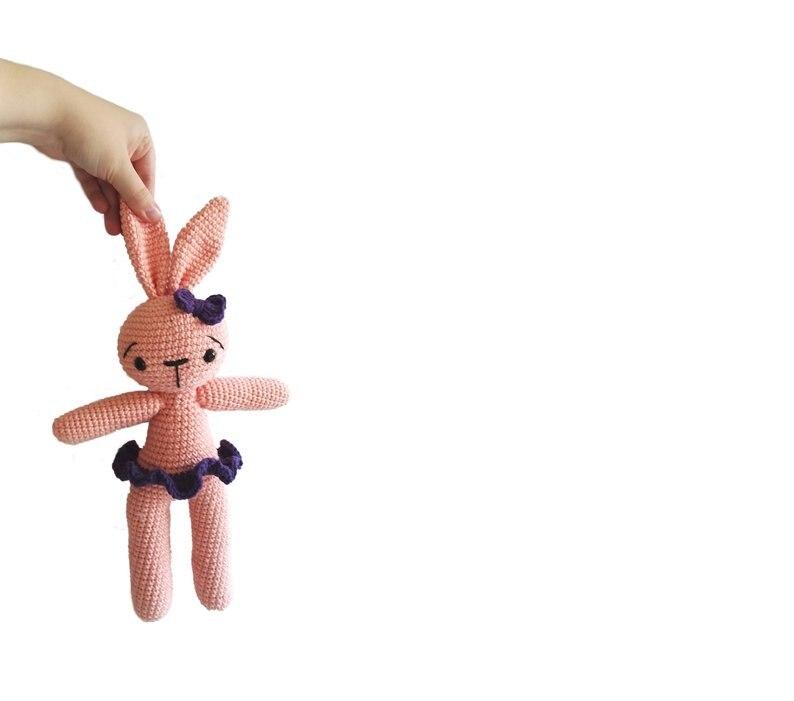 Crochet Toys  Amigurumi  Rattles  Doll Bunny  Model  Number  SBY0025