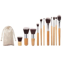 2017 New Professional Makeup Brush Set 11 Makeup Brush+1 Toothbrush Brush+1 Puff Make Up Brushes Kit +1 Lip Gloss