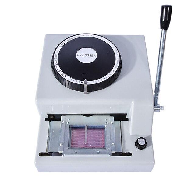 new hot 68ce credit card vip card punch code machine manual one way printer two - Credit Card Printer