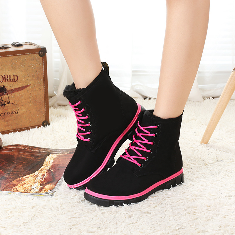 Fashion Warm Snow Boots calzado mujer Winter Boots Women sapato feminino  Boots Women Ankle Boots Candy Color Platform Shoes-in Snow Boots from Shoes  on ... d0506bc29a60e