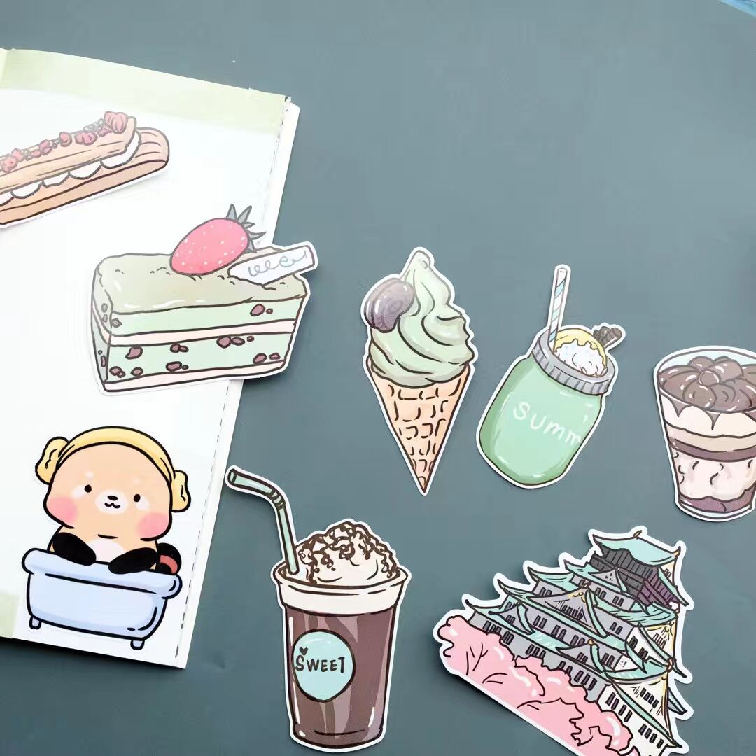 1set Cute Cartoon Sticker Diary Planner Decorative Mobile Stickers Scrapbooking Craft Stationery Stickers