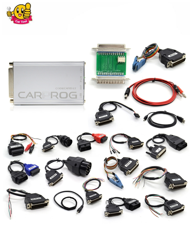 ФОТО free shipping Carprog 9.31 ECU Chip Tunning Car Prog v9.31 Carprog Full Newest Version (With All 21 Items Adapters)