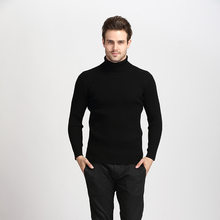 NIANJEEP Winter Thick Warm Cashmere Sweater Men Turtleneck Mens Sweaters Slim Fit Pullover Men Classic Wool Knitwear Pull Homme(China)