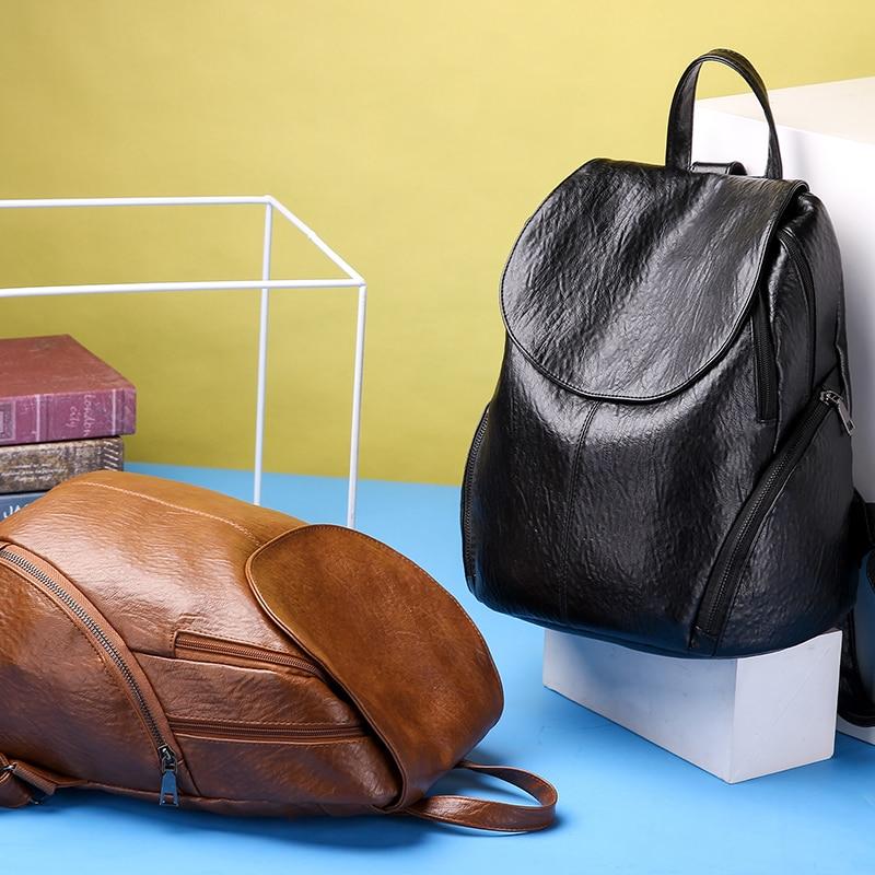 Fashion New Travel Bacpaok Korean Women Female Rucksack Leisure Student School Bag Soft Pu Leather Women Bag 226 #5